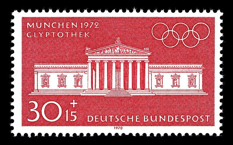 Datei:Stamps of Germany (BRD), Olympiade 1972, Ausgabe 1970, 30 Pf.jpg