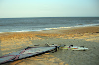 Day Two at Salvo Ramp.  No waves, but fun windswell for loop practice! - click to enlarge