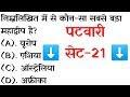 Patwari Paper Questions - 21 | पटवारी भर्ती परीक्षा बहुविकल्पीय प्रश्न। ...