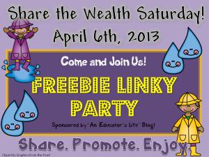 Share the Wealth-April 6th- Freebie Linky