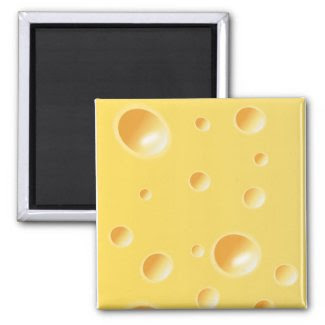 Yellow Swiss Cheese Texture Magnets