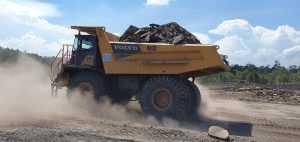 Rigid Hauler Volvo R60D Libas Tambang Batu Bara di Sebuku oleh - alatberatdoosan.uno