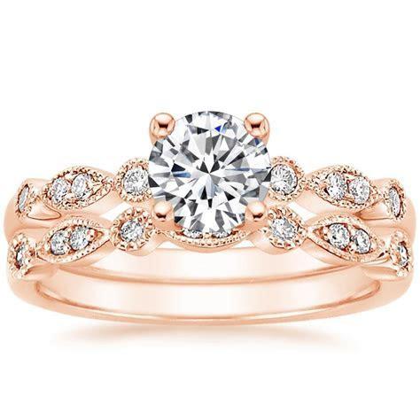 14K Rose Gold Tiara Bridal Set   Brilliant Earth