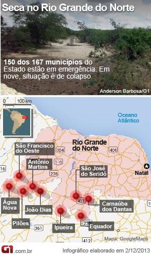 MAPA SECA RIO GRANDE DO NORTE (2/12) (Foto: Editoria de Arte/G1)