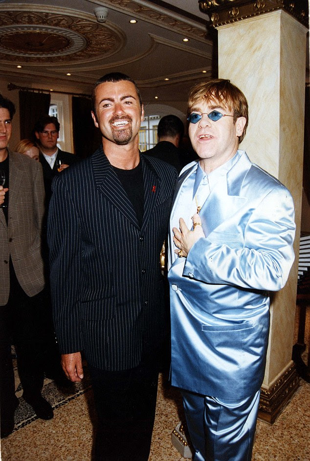 Firm friends: Elton and George, who have duetted together, were extremely close in the 1980s