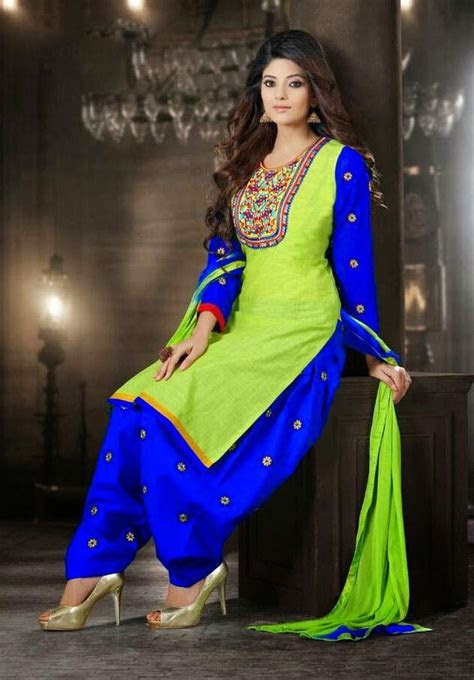 Stylish Blue Cotton Lawn Suits For Girls, Stylish Party