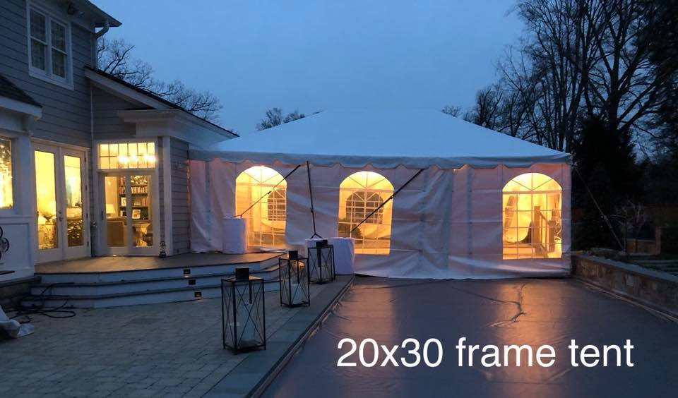 30x20 Frame Tent Party Event Rentals Annapolis Md