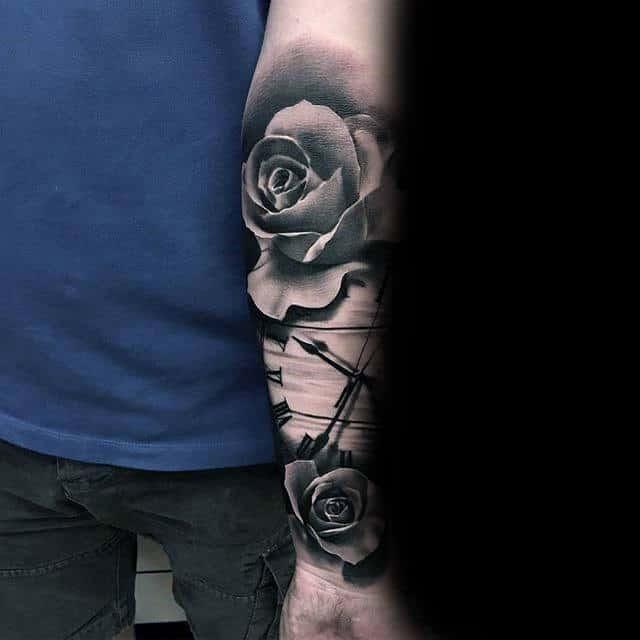 80 Black Rose Tattoo Designs For Men Dark Ink Ideas
