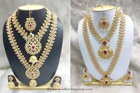 Necklace gold and earring gold the right choice for bridal