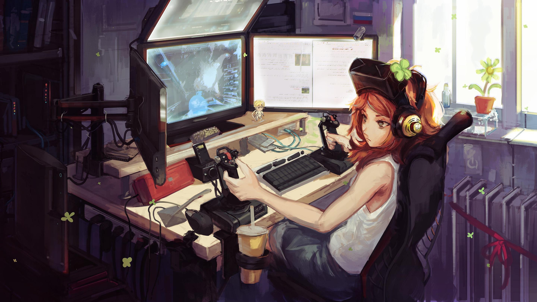 Anime Gamer Girl, HD Anime, 4k Wallpapers, Images ...