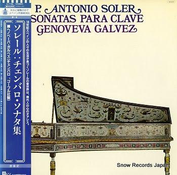 GALVEZ, GENOVEVA padre antonio soler; sonatas para clave