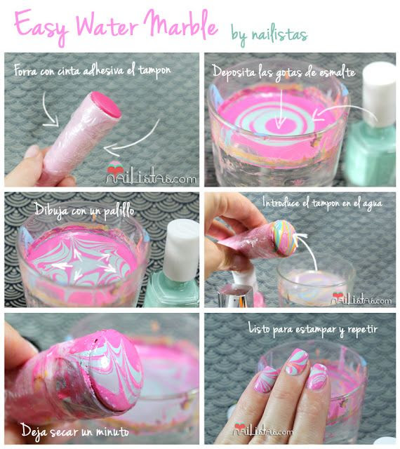 Mater Marble nail art stap voor stap