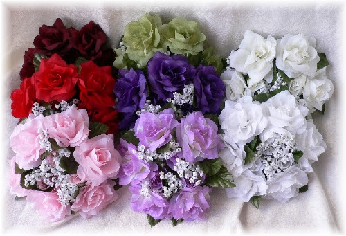 Lavender Candle Ring Wedding Centerpieces Silk Roses Flowers Unity ...