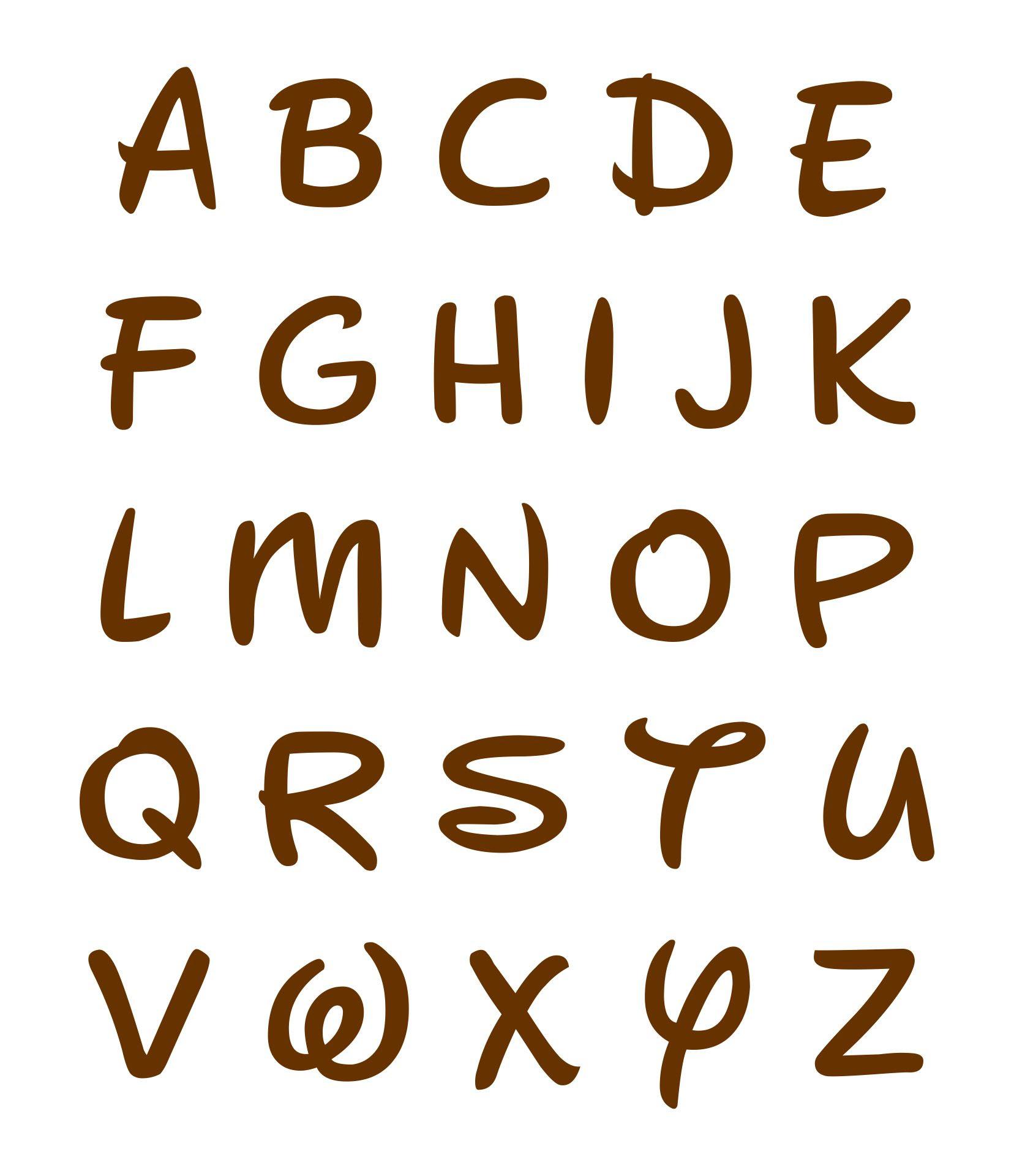 Disney Font Alphabet - More information