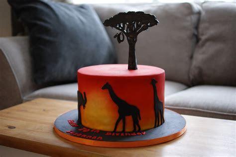 Sunset Safari Birthday Cake   Bakealous