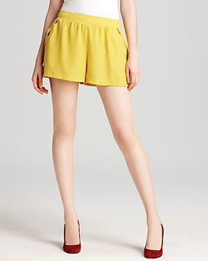 BCBGeneration Cutout Pocket Shorts