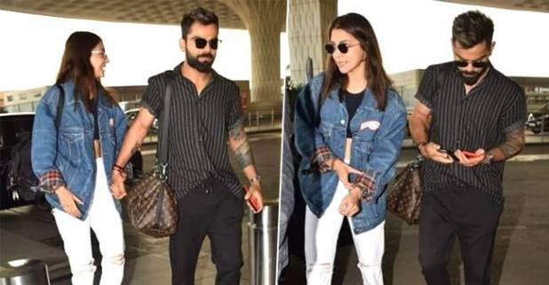 Anushka Sharma and Virat Kohli headed to Bengaluru, airport video is surfacing on the internet