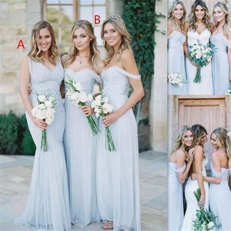 Long light sky blue bridesmaid dresses ? Budget Bridesmaid