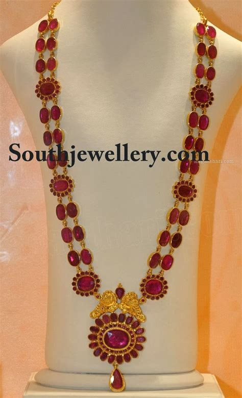 ruby long chain   Southjewellery.com   Latest Indian