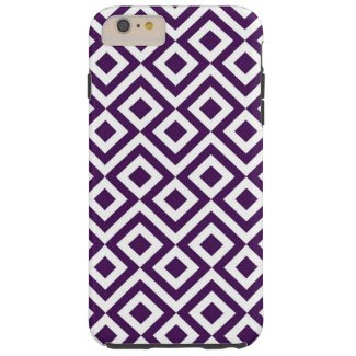 Purple and White Meander iPhone 6 Plus Tough Case Tough iPhone 6 Plus Case