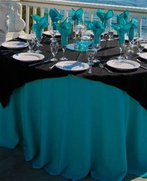 TURQUOISE AND BLACK WEDDING DECOR mine would be red and