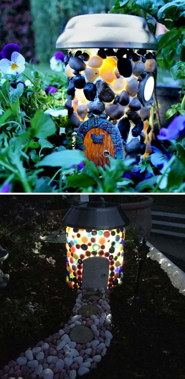 Solar Garden Lights Lamp Post