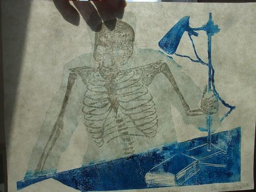Wilhelm Roentgen thermochromic print