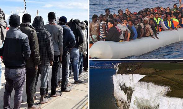 Desperate migrants