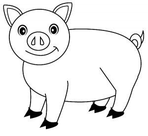 Cerdo Para Colorear Imprimir Y Pintar