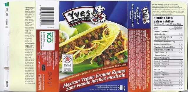 Yves Veggie Cuisine Mexican Veggie Ground Round