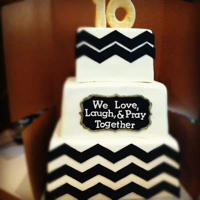 10 year anniversary cake..like the saying different colors