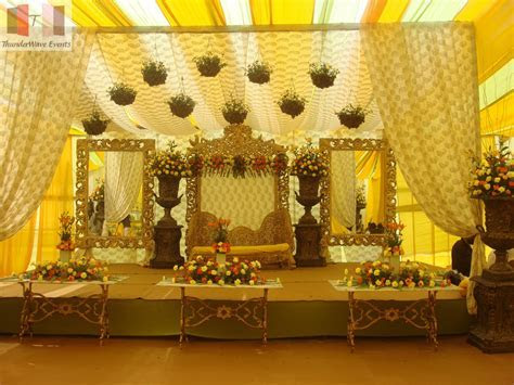 New stage and decoration, wedding stages reception designs
