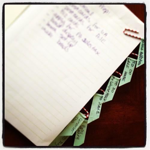 Brain dump journal paperclip dividers jen cameron glass addictions