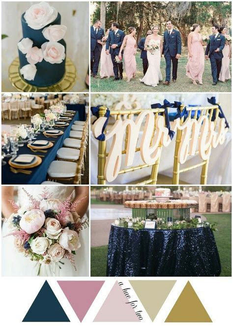 Navy, blush and gold looks incredible!   Wedding Colour