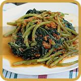 Stir-fried Sweet Potato Leaves with Dried Shrimps