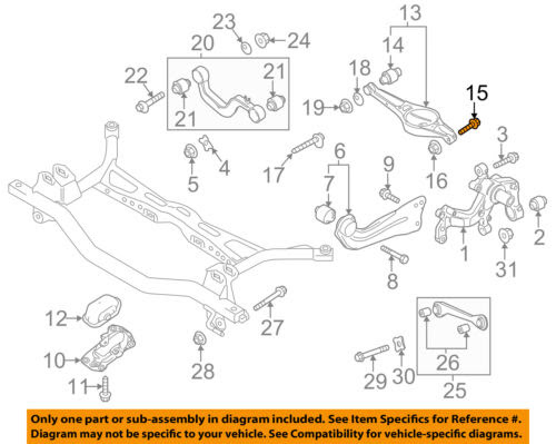 Vw Volkswagen Oem Jetta Rear Suspension Lower Control Arm Mount Bolt N10628601 Car Truck Control Arms Parts Motors Tamerindsa Com Ar