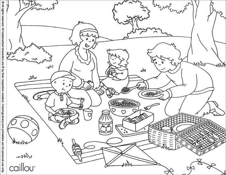 115 Dibujos De Caillou Para Colorear Oh Kids Page 6