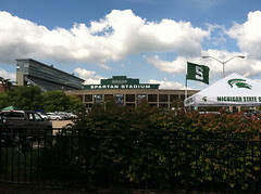 Outside Spartan Stadium