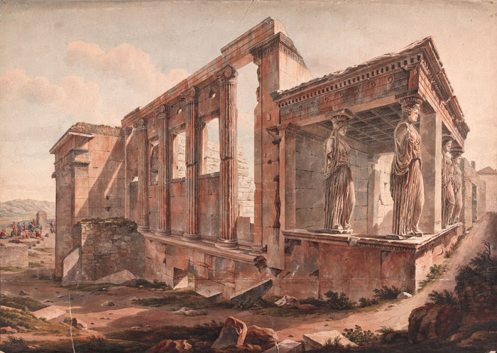 Ερέχθειο, Edward Dodwell; watercolor. The Packard Humanities Institute