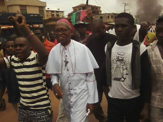Catholic Priest Joins IPOB In Nkpor, Anambra