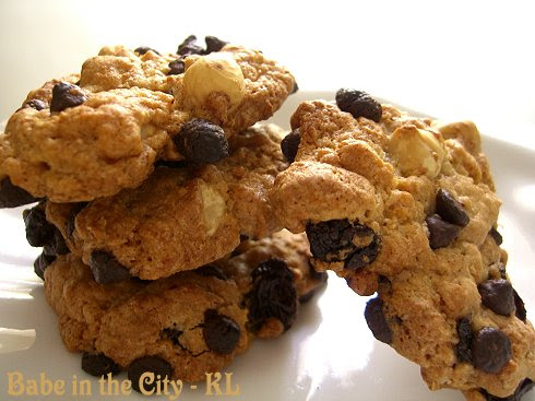 Chocolate & Raisin Oatmeal Cookies