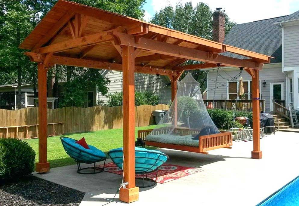 How To Build A Freestanding Patio Cover With Best 10 Samples Ideas Homivi