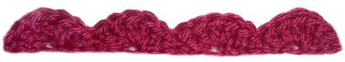 crochet basic shell edging