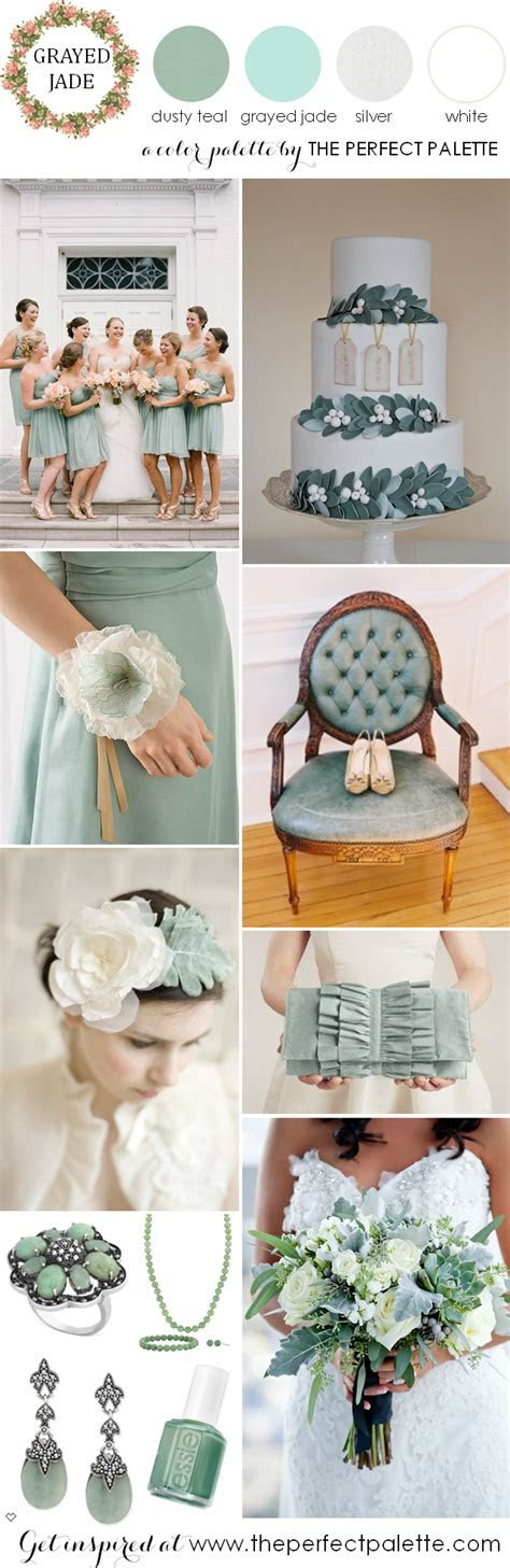 Now Trending: Grayed Jade and Dusty Teal Wedding Ideas