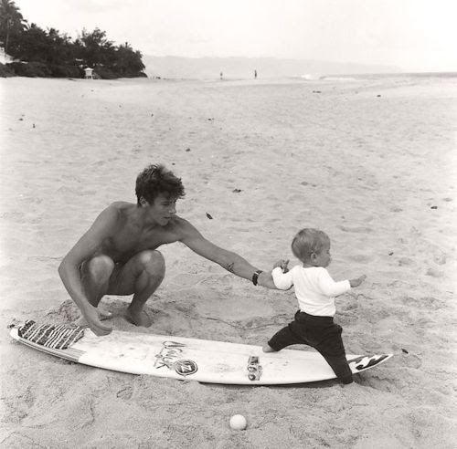 We're fans of vintage daddy and baby love.