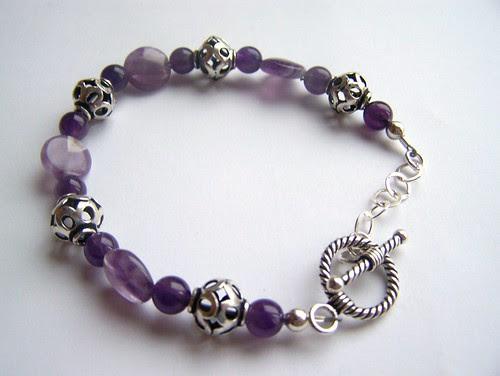 Amethyst Filigree Bracelet