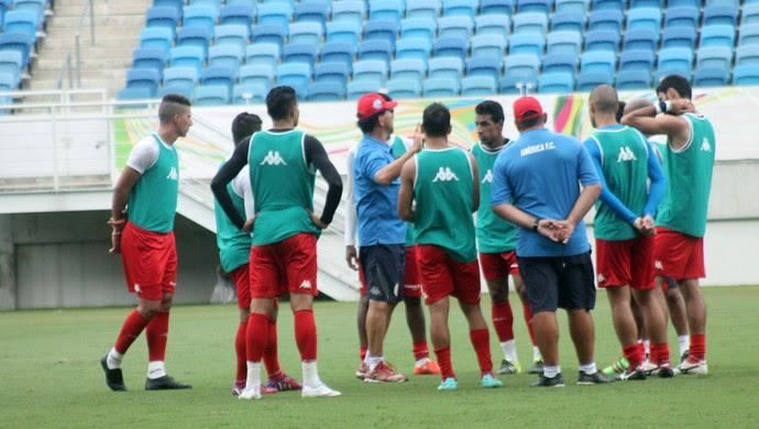 América-RN - Guilherme Macuglia jogadores Arena das Dunas (Foto: Canindé Pereira/Divulgação)