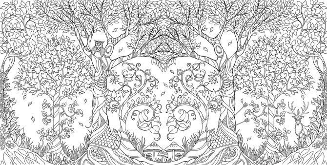 大人のぬり絵眠れる森の中身 大人のぬり絵あさチャンで話題の