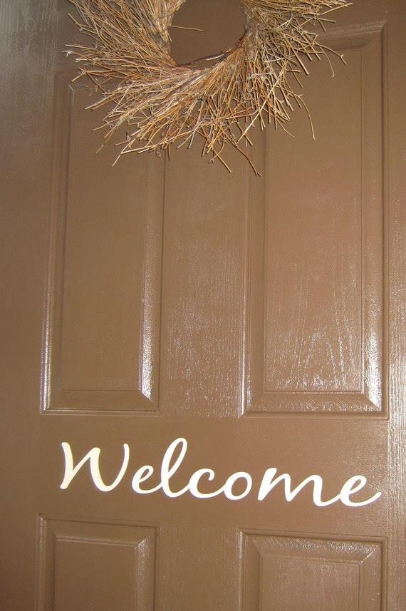 Welcome- door vinyl