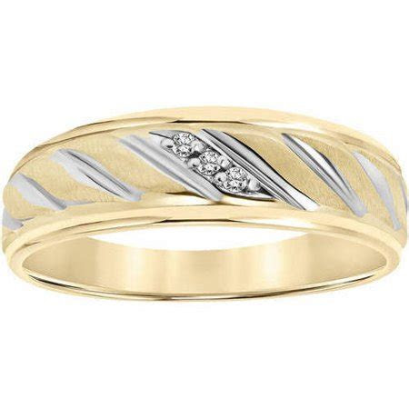 Diamond Accent Rope Design 10kt Yellow Gold Wedding Band